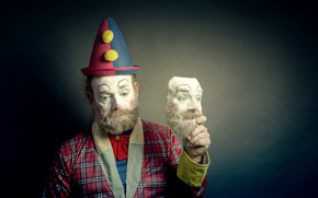 Picture people, clown, mask