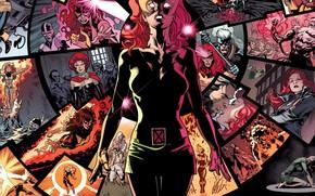 Wallpaper red, memories, telepathy, comic, Marvel Comics, X-men, Phoenix, Jean Grey, Jean Grey