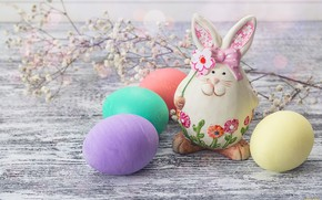 Picture eggs, rabbit, Easter