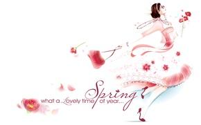 Wallpaper spring, March 8, girl, dress, bag
