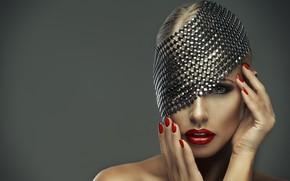 Wallpaper lipstick, model, lips, face, look