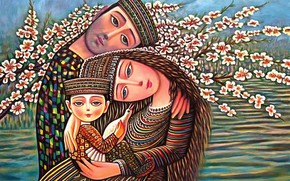 Picture flowers, tenderness, family, Of Sevad Grigoryan, Apricot bloomed