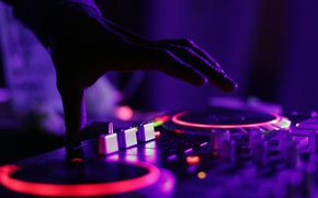 Picture music, hand, backlight, turntables, remote