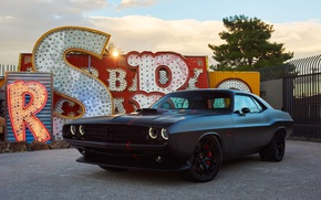 Picture black, Dodge, Challenger, Dodge, Black, Challenger