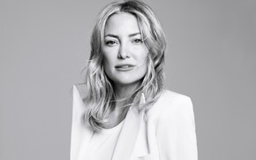 Picture portrait, actress, black and white, Kate Hudson
