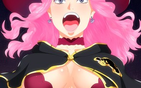 Picture logo, hat, pink, anime, asian, bull, manga, oppai, Vanessa, by kisi86, mahou, japonese, madoshi, Black …