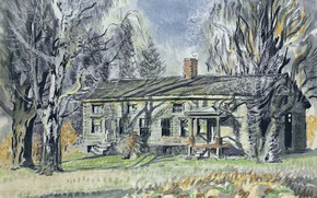 Picture Charles Ephraim Burchfield, North of Wyoming Village, Long House