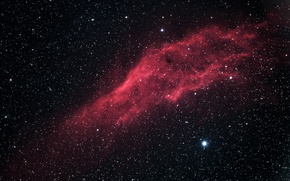 Picture Perseus, in the constellation, California Nebula, The California Nebula