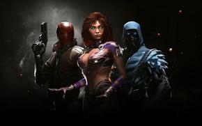 Picture game, DC Comics, Starfire, super hero, hero, Injustice 2, Sub-Zero, uniform, Red Hood