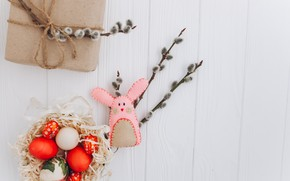 Picture toy, eggs, spring, rabbit, Easter, Holiday, toy, Verba, rabbit, spring, Easter, eggs, Holiday, Gift, Gift, …