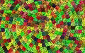 Wallpaper Tekstura, Colored, Squares