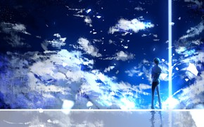 Picture strokes, guy, Vocaloid, Kaito