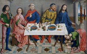 Picture Religious painting, Bouts, Albrecht, Flemish painting, Jesus at Simon the Pharisee
