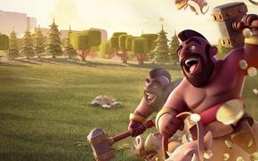 Picture game, warhammer, man, dragon, pig, Clash Of Clans, hog rider