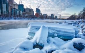 Picture winter, the city, Canada, Calgary, Calgary