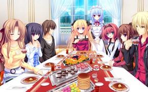 Picture girl, game, dress, anime, food, boy, blonde, asian, japanese, oriental, asiatic, visual novel, maid, bishojo, …