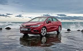 Picture Chevrolet, Car, Burgundy, Cruze, 2017, KR-spec, Metallic