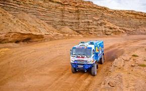 Wallpaper Sand, Nature, Sport, Speed, Truck, Race, Master, Russia, 307, Kamaz, Rally, Rally, KAMAZ, The roads, ...