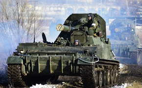 Picture Tulip, self-propelled mortar, 240 mm
