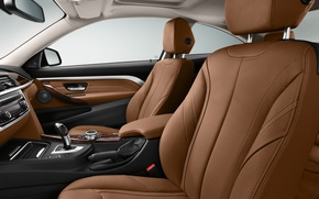 Picture leather, BMW, salon, Coupe, 4-Series