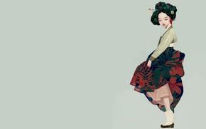 Wallpaper geisha, Korean geisha, girl, art, Siwo Believes Kim