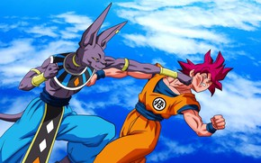 Picture DBS, game, alien, anime, cloud, fight, punch, manga, god, Son Goku, powerful, Dragon Ball, strong, …