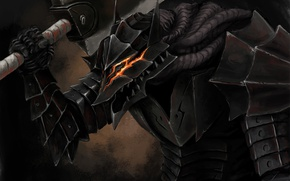 Picture sword, game, armor, anime, man, ken, blade, Berserk, fang, manga, powerful, strong, Guts, bakemono, berserk ...