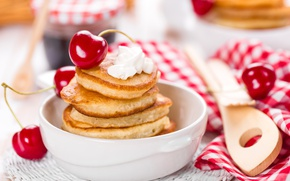 Picture Cherry, Food, Pancakes