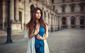 Picture blue dress, Lods Franck, Leana