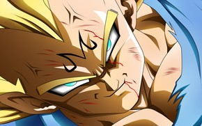 Picture game, alien, anime, manga, powerful, Vegeta, Dragon Ball, strong, by rmehedi, Majin Vegeta