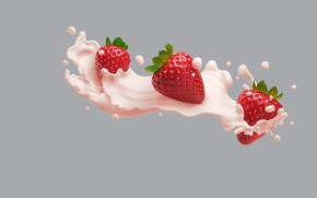 Wallpaper Philadelphia VIVA Protein Smoothies, AJ Jefferies, art, food, cream, Victoria, minimalism