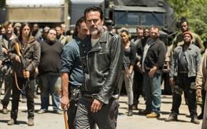 Wallpaper Jeffrey Dean Morgan, Andrew Lincoln, Negan, Season 7, Rick Grimes, The Walking Dead