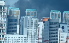 Picture the city, smoke, home, zoom, Minsk