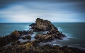 Picture sea, rocks, coast, Scotland, Scotland, Aberdeenshire, Portsoy