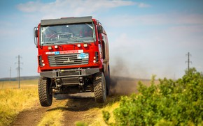Picture Red, Sport, Truck, Race, Rally, Rally, The roads, MAZ, 309, Silk road, Silk Way, MAZ, …