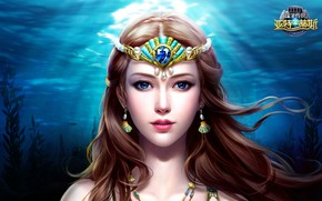 Picture water, art, fantasy, location, slots league of heroes