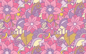 Picture vector, texture, flowers, design, pattern, floral