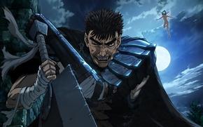Picture sword, anime, fairy, ken, blade, Berserk, elf, evil, manga, japanese