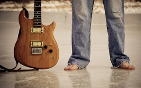Picture music, feet, guitar