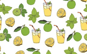 Picture background, vector, texture, pattern, lemonade