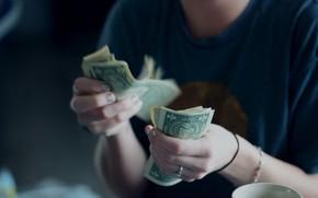 Picture money, dollars, fingers