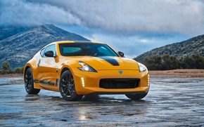 Picture car, logo, Nissan, yellow, Nissan 370Z Heritage Edition