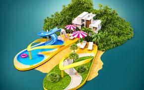 Picture Pool, Tropics, Umbrella, Shoes, Resorts, Flip flops