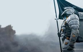 Picture The suit, Flag, Logo, Kojima Productions, Hideo Kojima, Hideo Kojima, Death Stranding