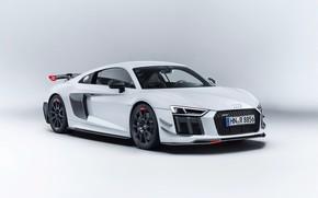 Picture Audi, Audi, white background, supercar