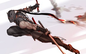 Wallpaper weapons, mask, art, attack, ninja, Ninja