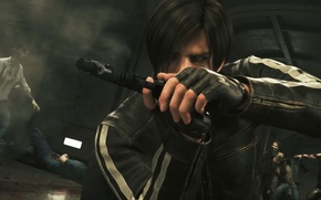 Wallpaper agent, yuusha, strong, Leon, zombie, Biohazard, blonde, Leon Scott Kennedy, Leon S. Kennedy, animated movie, ...