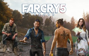 Picture forest, lake, Ubisoft, Far Cry 5