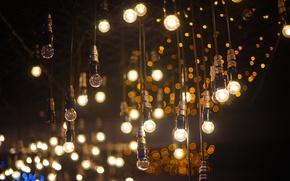 Picture light, Shine, electricity, light bulb, composition