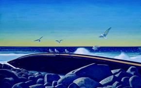 Picture sea, the wreckage, picture, shipwreck, Rockwell Kent, Rockwell Kent, Wreck of the D.T. Sheridan